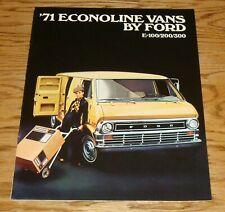 Original 1971 Ford Econoline Van Sales Brochure 71 E-100 E-200 E-300