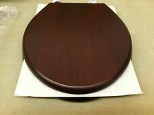 KALLISTA P70334-CP-JV WOOD TOILET SEAT, WITH CHROME HINGES - New