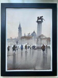 "ORIGINAL Watercolor Painting Italy ""VENICE"" 9x12 by John Harrison"