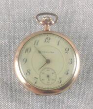 Antique Hamilton 956 Pocket Watch Size 16s 17 Jewel Gold Filled Case