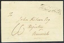 Norfolk PH 1833 Entire to Norwich via Swaffham Penny Post NK394 Rarity 'E'