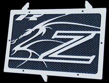 """cache / Grille de radiateur Kawasaki Z750 et Z1000 07>12 """"Dragon"""" + grill. bleu"""