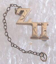 Vintage 10K Gold Fraternity Sorority Chapter Guard Pin-Zeta Pi
