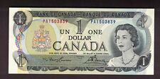 CANADA 1973 $1 LAWSON BOUEY SCARCE CHANGEOVER PREFIX PA1503839 AU CURRENCY