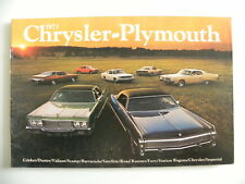 Brochure CHRYSLER PLYMOUTH de 1973 en anglais