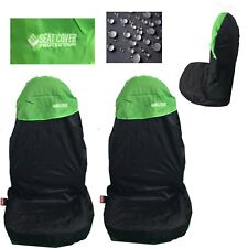 2 Green Waterproof Nylon Car Seat Covers For Ford C B Max Ecosport Edge Escape