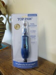 New! Top Paw Nail Grinder for Dogs of All Sizes - Blue (7017)