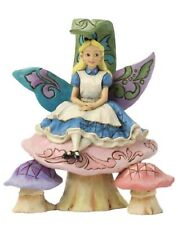 Enesco Alice On Mushroom Figurine