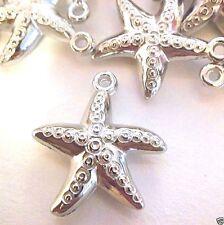 Lot of 50 Starfish Star Fish Pendant / Charm puffed design* Ships via USA * M132