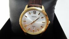 GENTS/MENS B/NEW GOLD SEIKO WATCH 12MONTHS GUARANTEE WITH SEIKO BOX