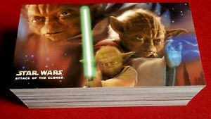 STAR WARS - ATTACK OF THE CLONES - COMPLETE BASE SET (80 cards) - Topps 2002