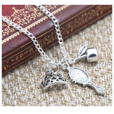 Snow White Necklace Mirror Apple Tiara Gift Ladies Girls In Organza Bag