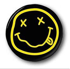 NIRVANA SMILEY - 1 inch / 25mm Button Badge - Cute Novelty Kurt Cobain
