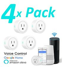 4X Wifi Smart Plug Remote Control Outlet Socket Works with Alexa & Google Home