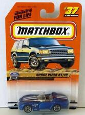 MATCHBOX DODGE VIPER RT/10 #37 BLUE MINT ON CARD DIECAST 1999