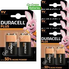 10 x Duracell 9V PP3 Plus Power Batteries, Smoke Alarms (LR22, MN1604, 6LR61)