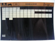 Kawasaki KZ250 CSR 1982 Parts Microfiche NOS k260