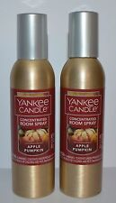 2 YANKEE CANDLE APPLE PUMPKIN CONCENTRATED ROOM SPRAY PERFUME AIR FRESHENER LOT