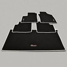 Für Fiat 500 Bj ab 8.07 Fußmatten Velours schwarz mit Rand dunkelgrau