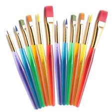 6pcs Colorful Kids Paint Brush Set Artist Drawing Watercolour Brushes Paintbrush