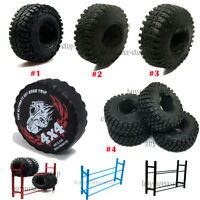 """1.9"""" Wheels 114mm Rubber Tyre & Spare Tires Cover 1/10 RC TRX-4 D90 Axial SCX10"""