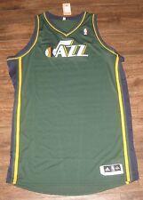 NEW ADIDAS UTAH JAZZ PRO CUT NBA JERSEY BLANK GREEN AUTHENTIC SIZE 5XL +4 5X NWT