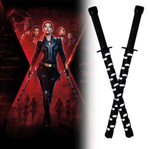 Black Widow Natasha Electric Staff LED Baton Stick Superhero Weapon Cosplay Prop