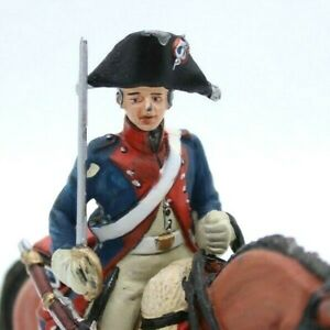 Mounted Toy soldier in Uniform with Artillery Trooper French 4th Cavalry 1796