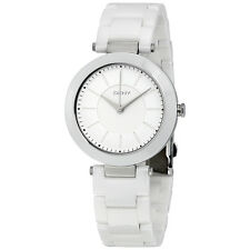 DKNY Stanhope White Dial White Ceramic Ladies Watch NY2291