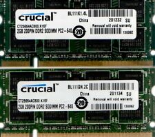 4GB 2x 2GB Dell Studio 15 1535 1536 1537 1555 1557 1558 17 1735 1737 DDR2 Memory