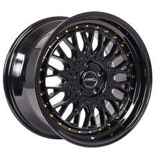 18x9.5 ARC AR1 5x114.3 +35 Black Rims Fits Lexus Is300 Lancer Es Rx8