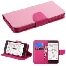Custodie portafogli in pelle rosa per cellulari e palmari