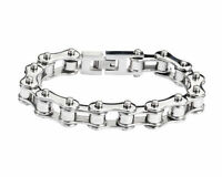 Biker Stainless Steel Silver Bike Chain Bracelet USA Seller!