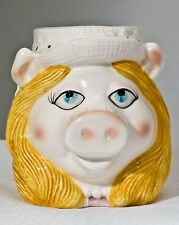 Vintage Miss Piggy Ceramic Coffee Mug Jim Henson Muppets Hand Painted New W/Tags