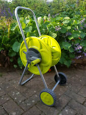 More details for 50m portible,wheeled garden hose reel/cart/trolley,hozelock compatible