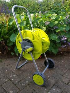 50m portible,wheeled garden hose reel/cart/trolley,hozelock compatible