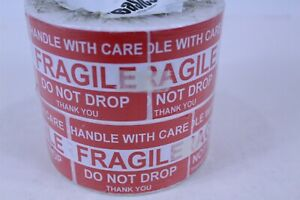 Handle With Care/Fragile/Do Not Drop Fragile Shipping Stickers 2 Rolls 500 Each