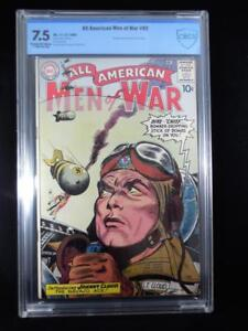All American Men of War #82     CBCS 7.5     Cream/Off White Pages   1st Johnny