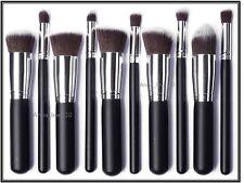 10 Piezas De Maquillaje Profesional juego de brochas Fundación Colorete Kabuki Pinceles, Polvo