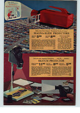1964 PAPER AD Walt Disney Wonderful Word Of Color Toy Magna Slide Projector