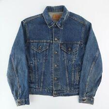 Mens Vintage Levis USA Made Denim Type III Trucker Jacket - Mid Blue Medium
