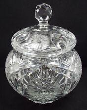 Antique American Brilliant Cut Crystal Tureen Punch Bowl