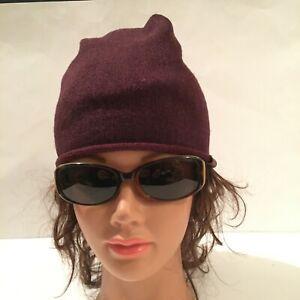 Kangol New Unisex Long Pull on Knit hat Sewn logo patch Eggplant One size