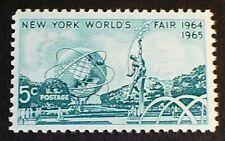 U.S. Scott 1244- New York World's Fair, Unisphere- MNH OG F-VF 5c 1964