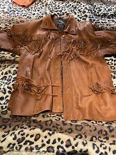 Leather Fringed Jacket Vintage