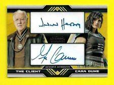 2020 Star Wars The Mandalorian Season 1 Autograph Werner Herzog Gina Carano 5/10
