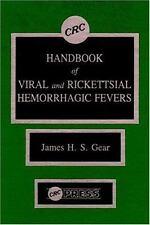 CRC Handbook of Viral and Rickettsial Hemorrhagic Fever-ExLibrary