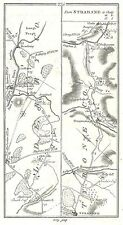 Antique map, Roads from Newtown Limavady to Newferry (2), Strabane to Clady, ..