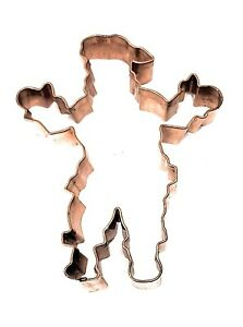 """Heavy Duty Large Copper SANTA Cookie Cutter 5.5"""" Christmas holiday baking decor"""