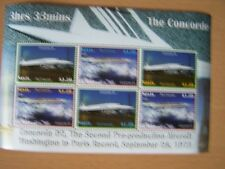 NEVIS,CONCORDE/AIRCRAFT,U/M,M/SHEET,OF 6 STAMPS,2007,SHOWING CONCORDE 02 FLIGHT.